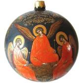 Расписной новогодний шар - Святая Троица