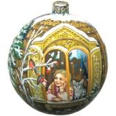 Расписной новогодний шар - Сказка